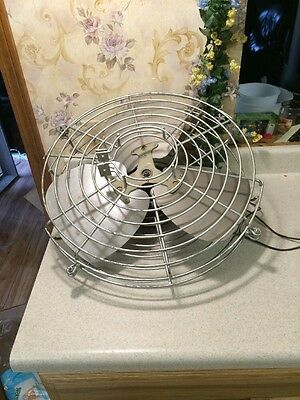 Wall Mount Vintage FAN  COOLING FAN  1/4 HP G. E. MOTOR Metal Blades Heavy