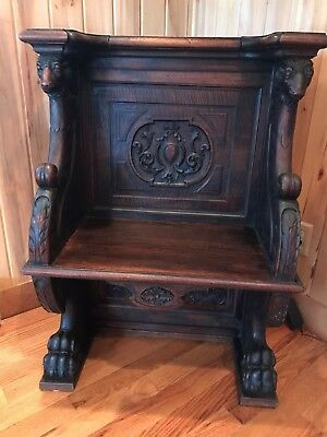 Antique Deacons Bench Late 1800's Early 1900's
