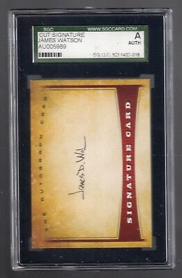 JAMES D. WATSON Signed Signature Card - SGC Certified (like PSA) Autograph Auto