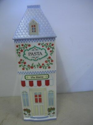 The Lenox Village Canister Marked  PASTA  & The Bistro  Dated 1992 On Bottom