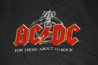 AC/DC For Those About To Rock 1981 Tour Vintage Concert T-Shirt ACDC Angus Young