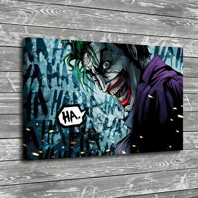"16""x24"" Joker Terror Comics HD Canvas prints Painting Home Decor Wall art Poster"