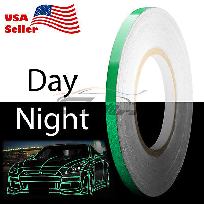 Green Reflective Tape Safety Self Adhesive Striping Sticker 150FT Roll 1Cm