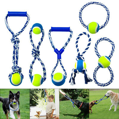 Dog Chew Toys for Aggressive Chewers Indestructible Braided Cotton Rope Tug Ring