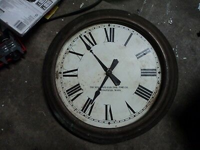 Vintage Standard Electric Time Co Wall Clock Springfield Mass.