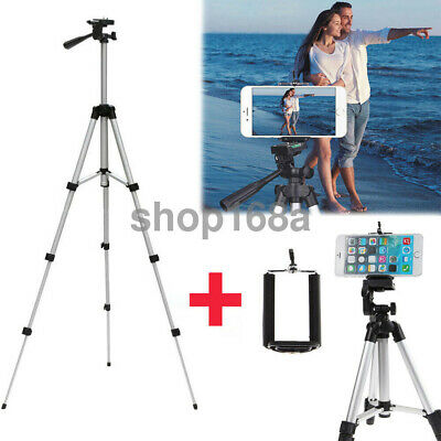 """41"""" Professional Camera Tripod Stand Holder Mount for iPhone/Samsung Cell Phone"""