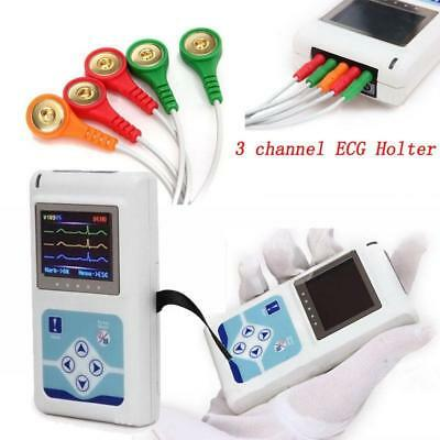 24 hours 3 Channel ECG/EKG Holter Monitor System CONTEC TLC9803 USB Software,CE