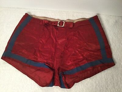 Vintage 40s 1940s Satin Mens Basketball Gym Shorts Nashville, Tennessee
