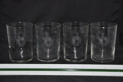 Antique Etched Water Glasses
