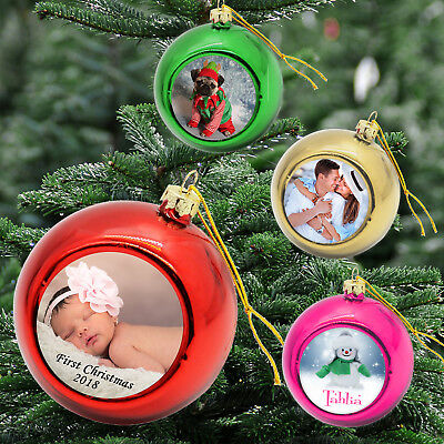 Two Personalised Christmas Bauble Xmas Tree Hanging Ball Decoration Baubles Gift