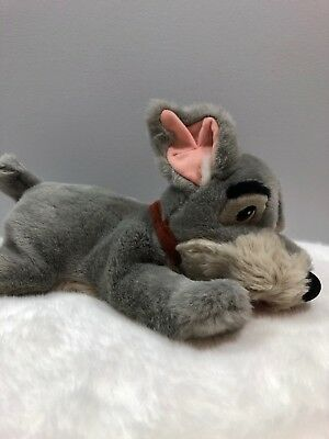 "Disney Store Tramp Plush Stuffed Dog Toy 14"" Medium Lady and the Tramp"