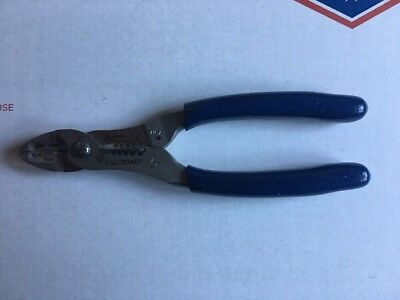 Snap On Blue Colored Wire Cutter, Stripper And Crimper Pliers.