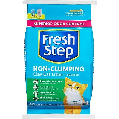 Fresh Step Extreme Non-Clumping Scented Clay Cat Litter (40 lbs) Kitty Kitten