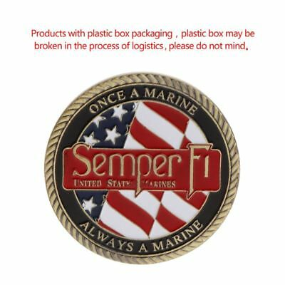 America Marine Corps Motto Honor Commemorative Coin Souvenir Collection Crafts