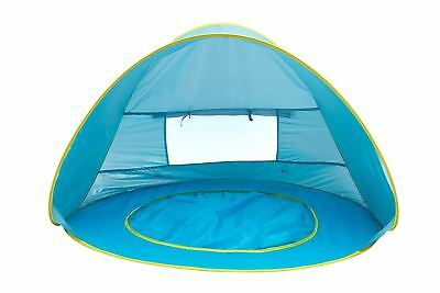 Play Kreative BABY BEACH POP UP TENT with Kiddie pool and carry Case