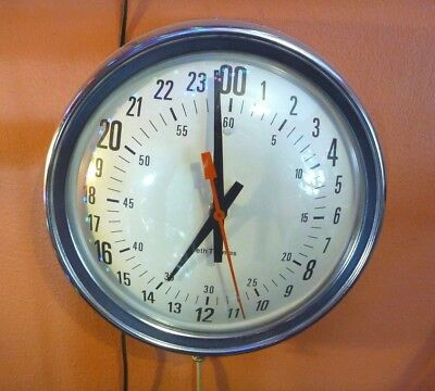 Vintage SETH THOMAS Electric Wall Clock 24 hour-Model