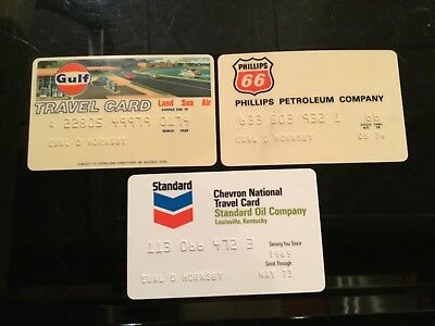 Vintage 1973-1974 Gas Cards Lot of 3 PHILLIPS 66, GULF & STANDARD OIL