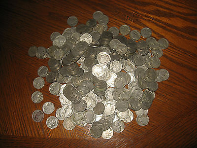 1008 Old Buffalo Nickels With No Dates.
