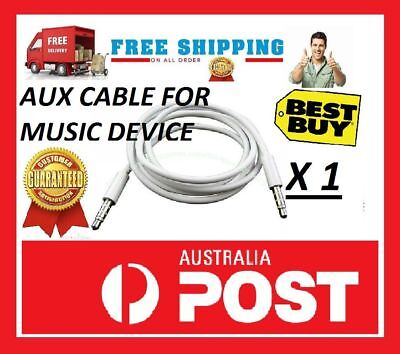 AUX Cable 3.5mm Stereo Audio Input Extension Male to Male Auxiliary Car Cord Au