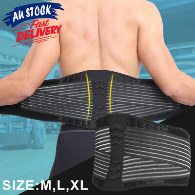 Lumbar Lower Pain Relief Back Brace Strap Support Belt Posture Waist Trimmer