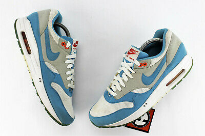 NIKE AIR MAX 1 Sample Scuba Blue White Orange Size 9 2009