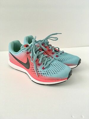 d75b4b2fa0f2d9 Nike Air Zoom Pegasus 34 Women Mica Blue Racer Pink 880560-406 Running Shoes  8.5