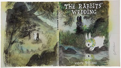 Garth Williams~Enormous Original Cover Art Watercolor Painting~Rabbits' Wedding