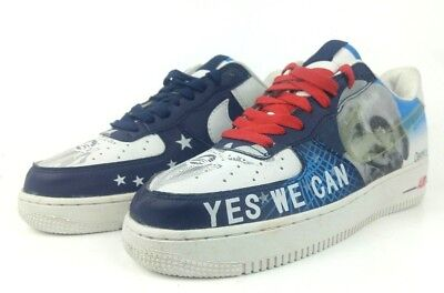 NIKE Air Force 1 2008 OBAMA-Change Yes We Can Size 7.5 Patriotic Political