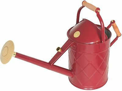 English Garden Haws Heritage 2.3 Gallon Galvanized Metal Watering Can With Wood