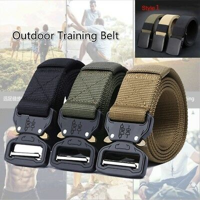 Outdoor Heavy Duty Military Tactical Belt Training Strap Quick-Release Buckle