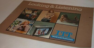 Vintage 1970s ITT Looking & Listening Television and Stereo Catalogue