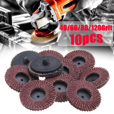 "10 Flap Discs 115mm Sanding 40 60 80 120 Grit Grinding Wheels Discs 4.5"" Mix"