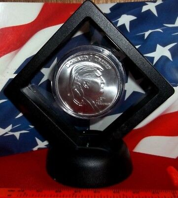 Donald Trump  3-D - 45th President of the USA: 1 oz .999 Solid Silver Round/Coin