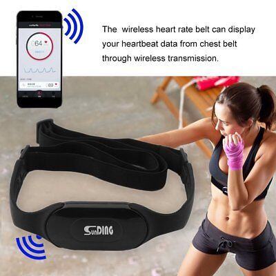 Bluetooth Wireless Heart Rate Sensor Monitor Sport Chest Strap Belt Running Bike