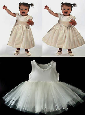 BABY PETTICOAT CHRISTENING  DRESS NET UNDERSKIRT ages from Newborn to18 Months