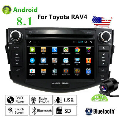 For Toyota RAV4 Android 9.1 Car GPS Stereo CD DVD Navigation 2DIN Radio Player