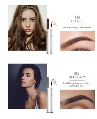 Tattoo Pen Smudge-proof Eyebrow Pen Waterproof Eye Brow Pencil Long Lasting UK