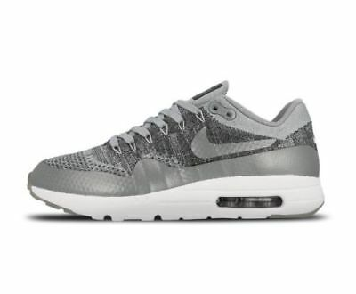 25d26aeaf39 NEW Nike Air Max 1 Ultra Flyknit Shoes 843384 001 Wolf Grey Men s Size 9.5