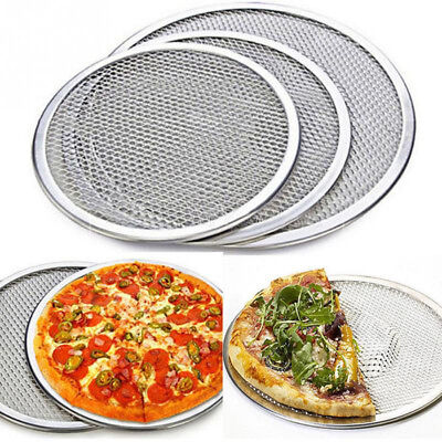 New Food Flat Mesh Pizza Pan Screen Oven Baking Tray Net Kitchen Tools 6-12inch