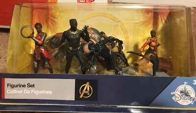 Disney Marvel Black Panther Avengers 6 Pc Figurine Set / Cake Toppers NEW