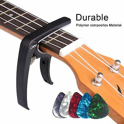 Guitar Capo Trigger Clamps For Acoustic Electric Classical Guitars & Banjo SILV