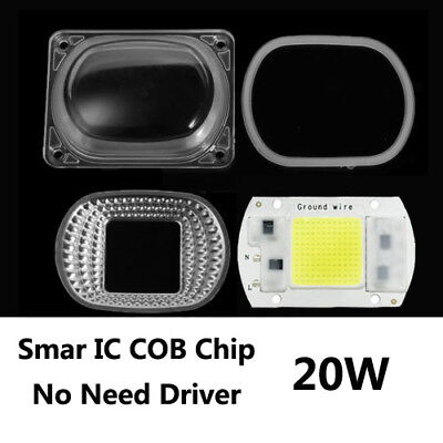 20W LED intelligenter IC-Chip COB+Lens Reflector kit Hohe Energie Weißes Licht