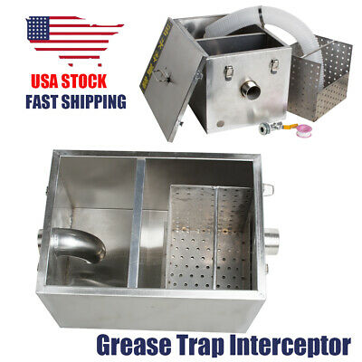 Commercial Grease Wastewater Oil Trap Interceptor Stainless Steel Restaurant Use