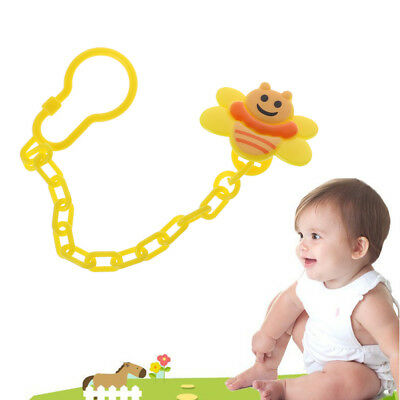Cute Portable Nipple Holder Soother Teether Baby Pacifier Clips Hook Dummy Chain