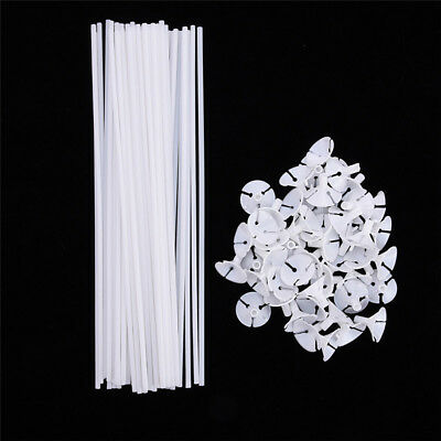 20pcs White Balloon Sticks Holders with Cups for Wedding Party Decoration New UK