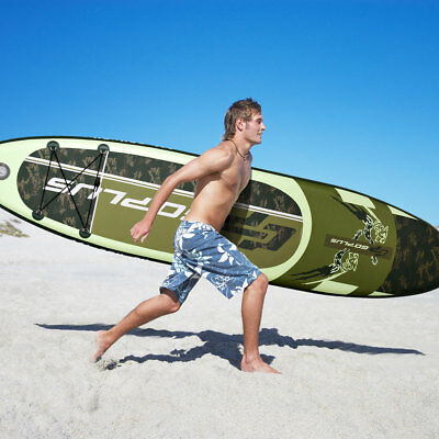 Paddle Gonflable Paddle de surf Gonflable Paddle Board 335 x 76 x 15cm vert/bleu
