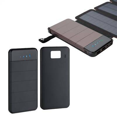 Foldable Portable Solar Panel Battery Charger Dual Port USB Power Bank Pack NEW