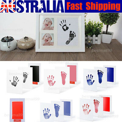 Newborn Baby Handprint Footprint Pad Safe Clean Non-Toxic Clean Touch Ink Pad BM