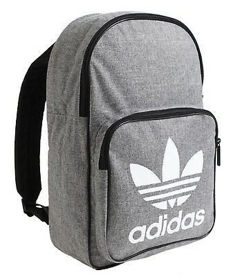 bb6773560178 Adidas CLASSIC CASUAL Backpack Bags Sports Gray School GYM Running Bag  D98923
