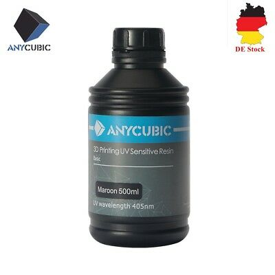 ANYCUBIC Resina sensible a los rayos UV de color granate 405 nm para SLA Photon